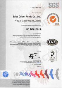 Salee Colour ISO 14001-2015V2022