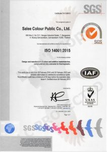 Salee Colour ISO 14001-2015V2022