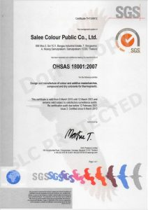 Salee Colour OHSAS 18001-2007V2021